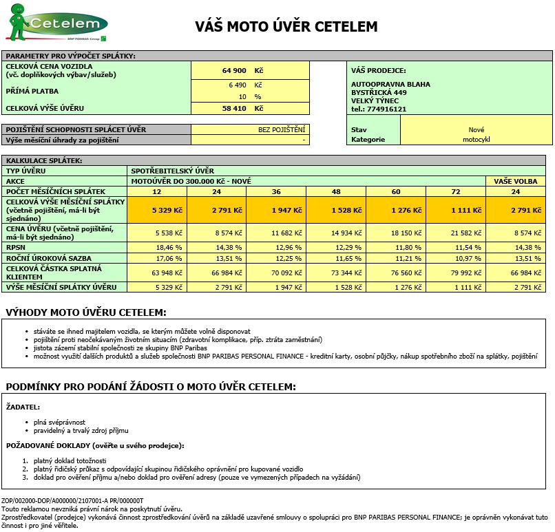 Peugeot CityStar 125 výhodně na splátky Cetelem