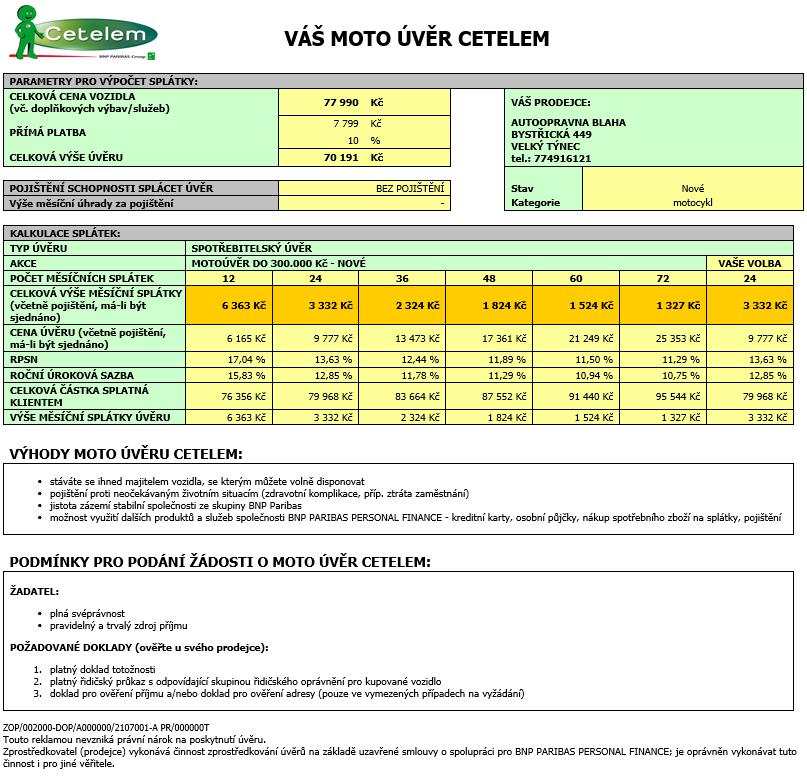 Vespa Primavera 50 2T Touring výhodně na splátky Cetelem