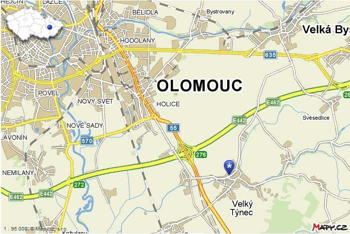 Mapa adresy provozovny